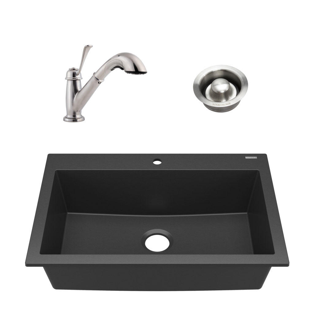 Camille All In One Granite Composite Kitchen Sink With