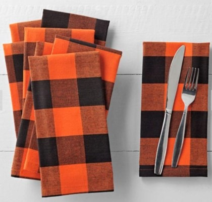 orange-buffalo-check-napkins