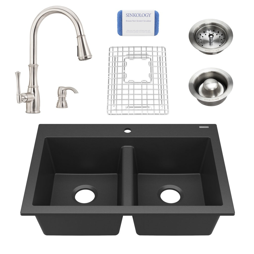 Whitney All In One Granite Composite Kitchen Sink Matte