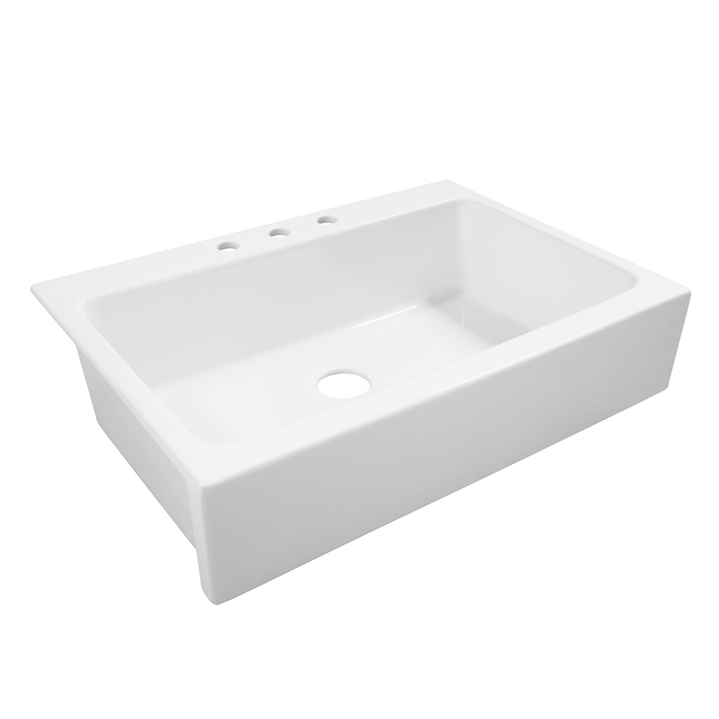 Josephine Quickfit Drop In Fireclay Farmhouse Kitchen Sink