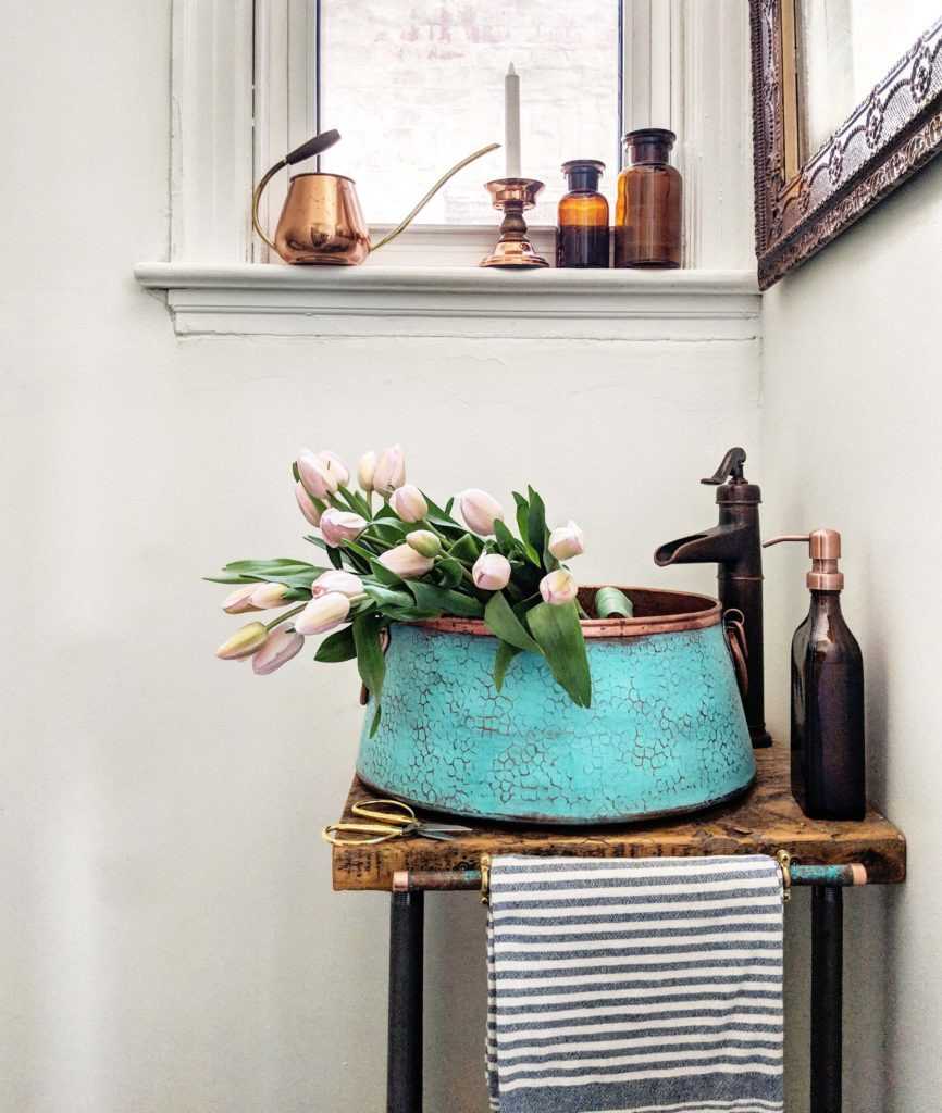Makeover From Outdated Pantry To Main Floor Powder Room