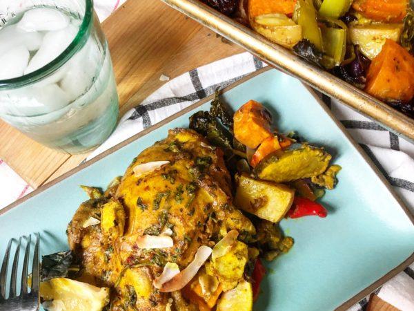Sheet Pan Curry Chicken Recipe