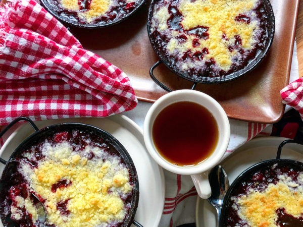 Winter Cherry Berry Cobbler