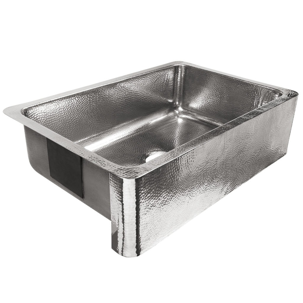 polished crafted stainless steel single bowl farmhouse sink