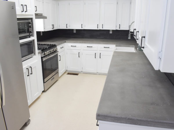 DIY Kitchen Renovation with Concrete Countertops & Brooks ll