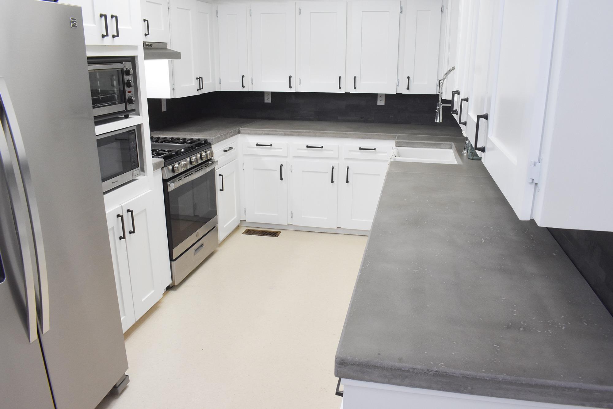 Diy Kitchen Renovation With Concrete