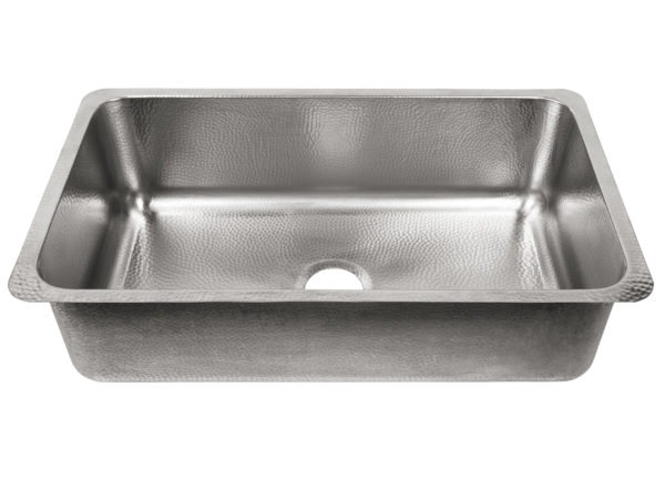 brushed crafted stainless steel undermount sink