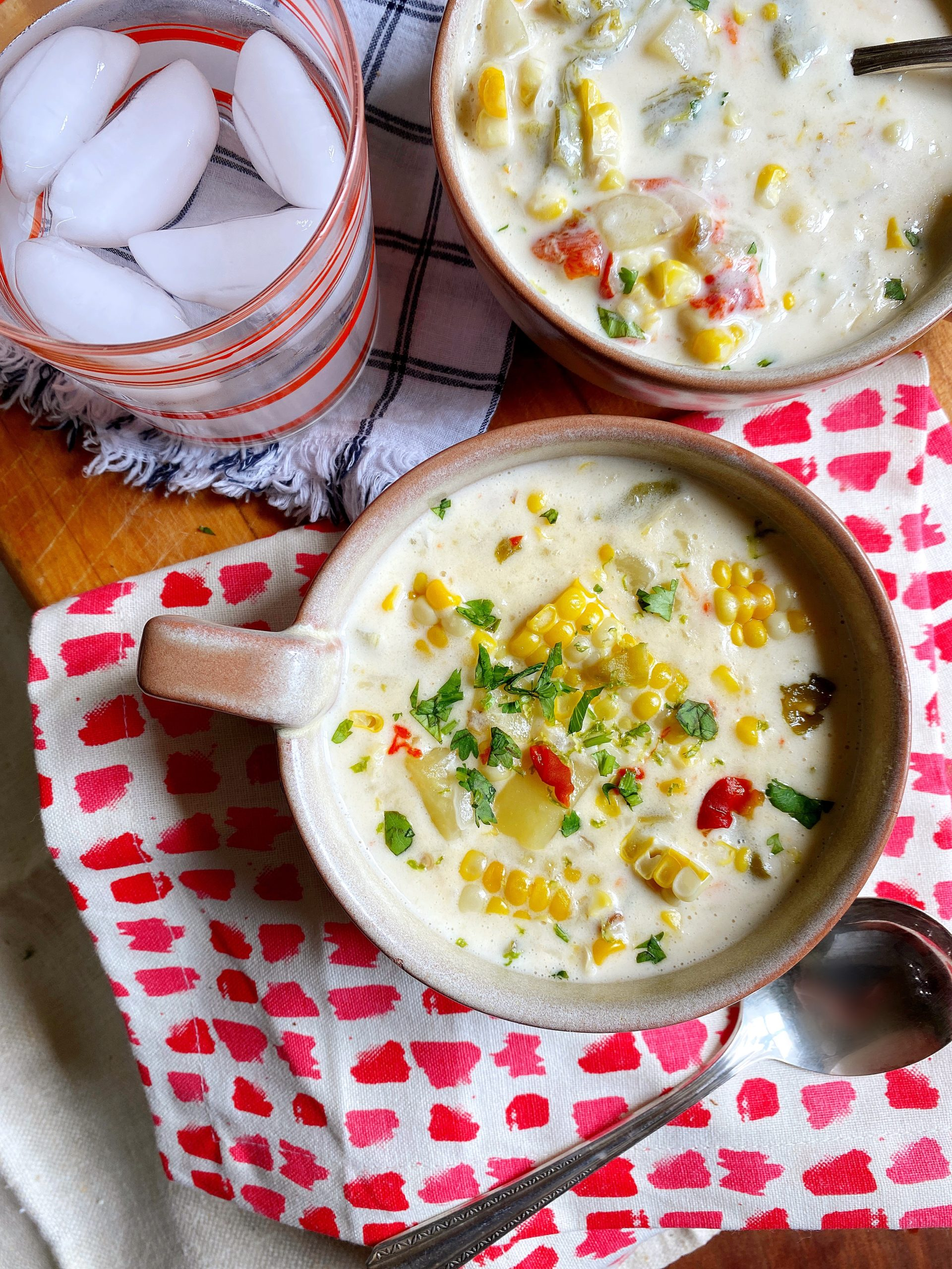 Roasted Hatch Chile Corn Chowder