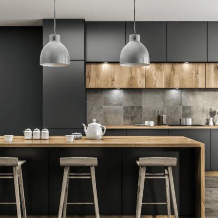 sleek modern kitchen with no handles