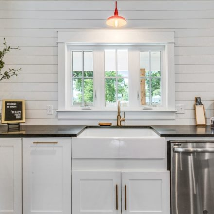 New kitchen featuring the Grace fireclay sink
