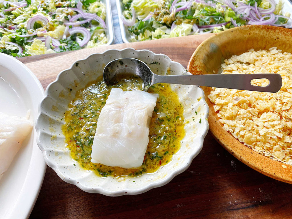 cod butter dredge