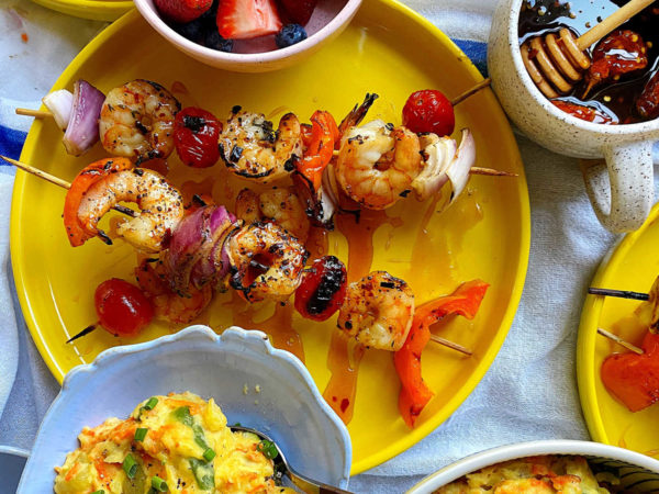 shrimp is served